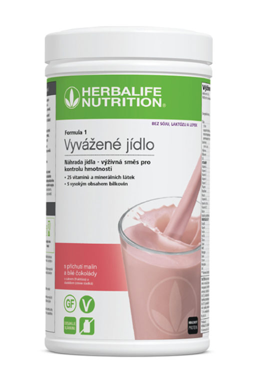 Herbalife Vyvazene jedlo Free s prichutou malin a bielej cokolady